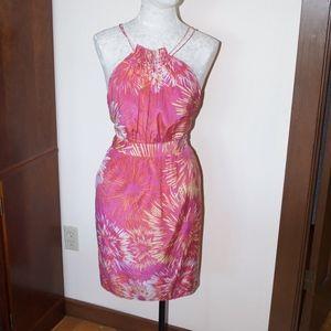 Cynthia Steffe Pink Orange Halter Dress 4